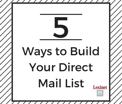 5 Ways to Build Your Direct Mail List