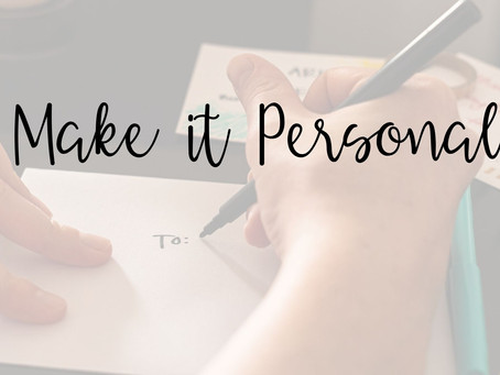Using Personalization: It's a Must