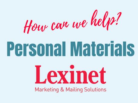 Lexinet Capabilities: Personal Materials
