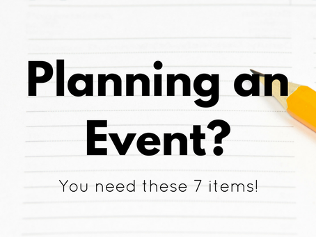 Planning an Event? You Need These 7 Items!