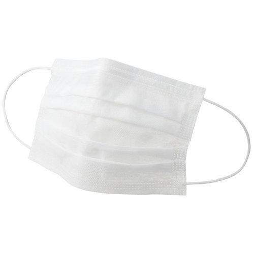 【マスク50枚セット】三層構造 不織布マスク ホワイト レギュラーサイズ  (ウィルス飛沫、PM2.5、花粉不織布マスクふつうサイズ)