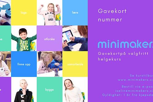 Gavekort på Minimakers HELGE-kurs