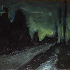 Condensory Road Nocturne (Toward the Light, Easter Night)