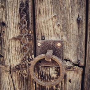 DOOR RECALIMED FROM MAIN HOUSE