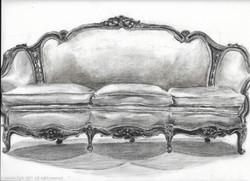 Couch in Charcoal