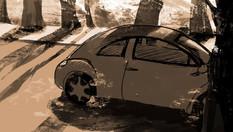 Shot 2: Pan Side of Car
