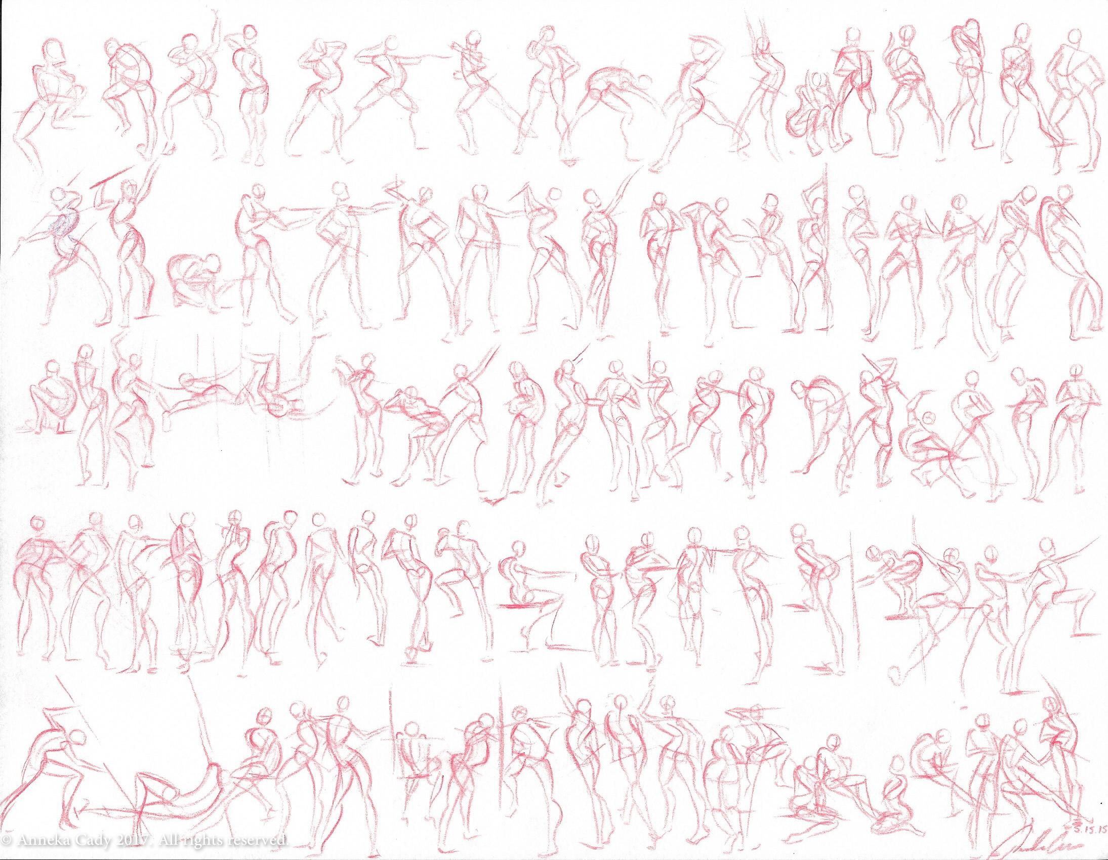 100 Figure Study Sheet 03