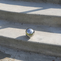 Clean Slate with Chrome Sphere