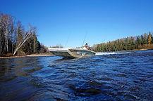 Тест лодки Дискавери Джет 540 на реке Аг