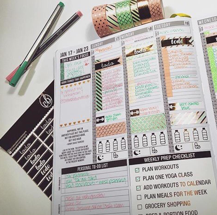 The picture that was featured by Passion Planner for #PCW