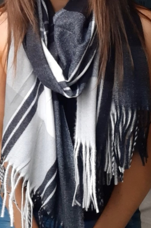 Check Print Winter Scarves