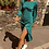 Thumbnail: Teal Open Back Dress