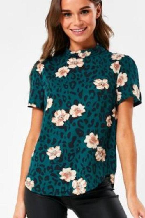 Cap Sleeve Floral Top
