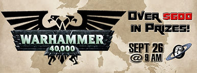 Galactic Greg's, Galacti-Con, Warhammer 40K, Tournament