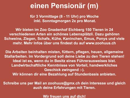 Pensionär gesucht!