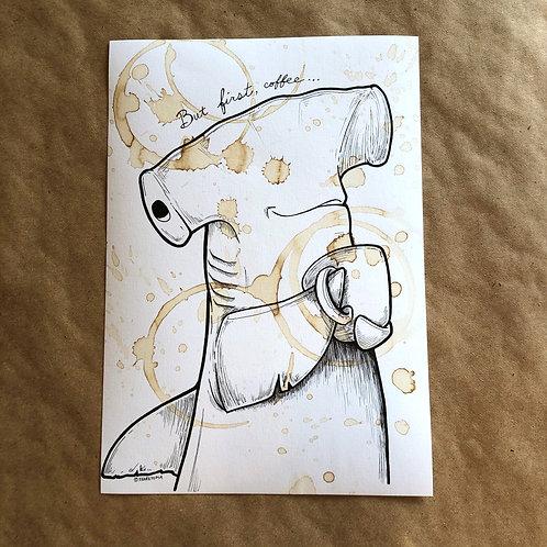 Original Coffee Illustration -  Hammerhead 2