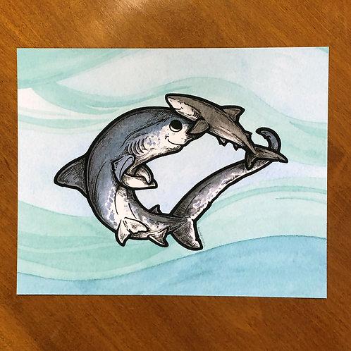 Print - Shark Family (3)