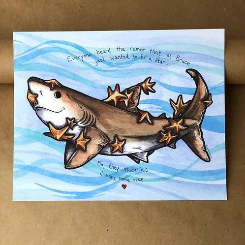 Print - Bruce w/ Starfish