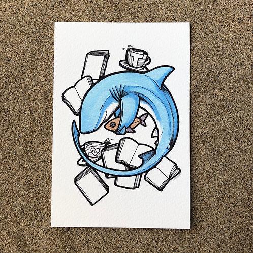 4x6 Print - Tea Shark