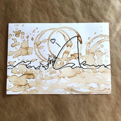 Original Coffee Illustration - Shark fin 1