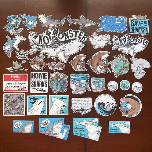 40 Eco Paper Stickers (Every color sticker design!)