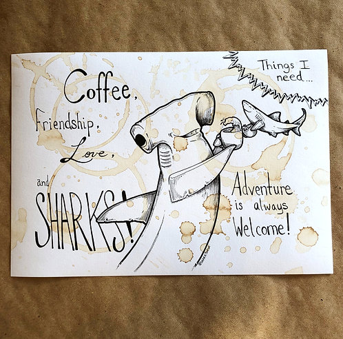 Original Coffee Illustration - Hammerhead 1