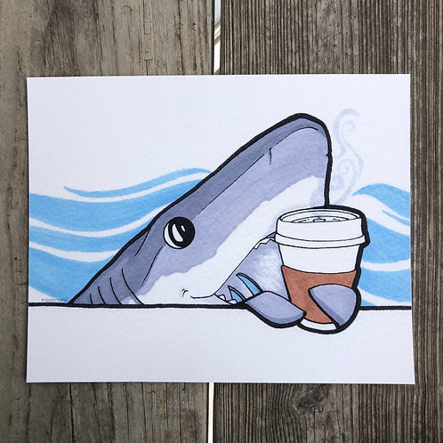 Print - Coffee Shark (8x10)