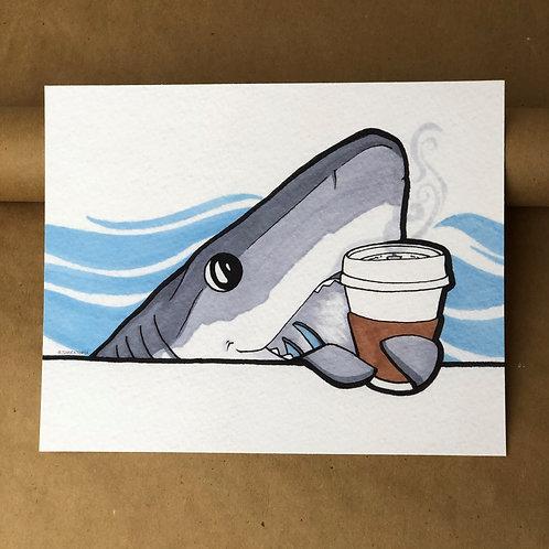 Print - Original Coffee Shark