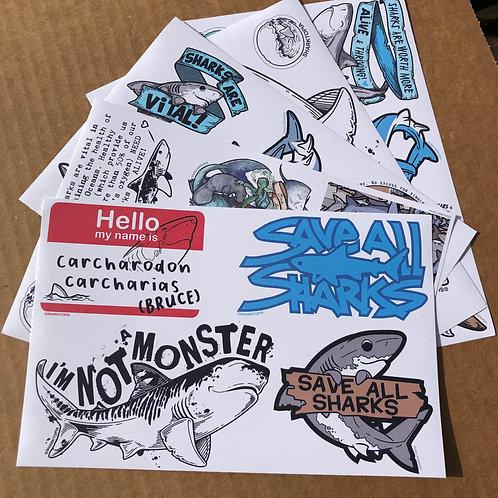 UN-CUT Paper Sticker Pack (28 full color paper stickers)