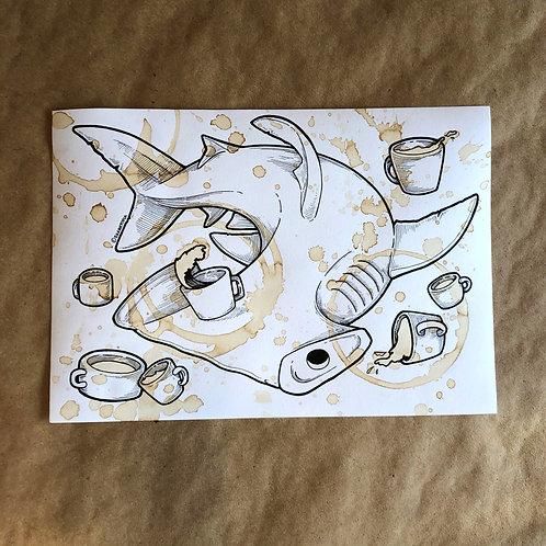 Original Coffee Illustration -  Cups everywhere!