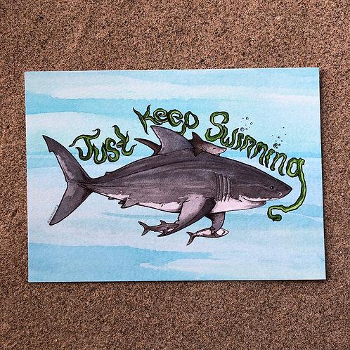 5x7 Print - Just Keep Swimming