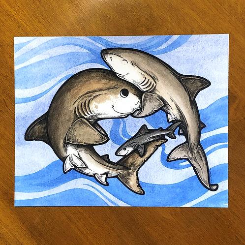 Print - Shark Family (2)