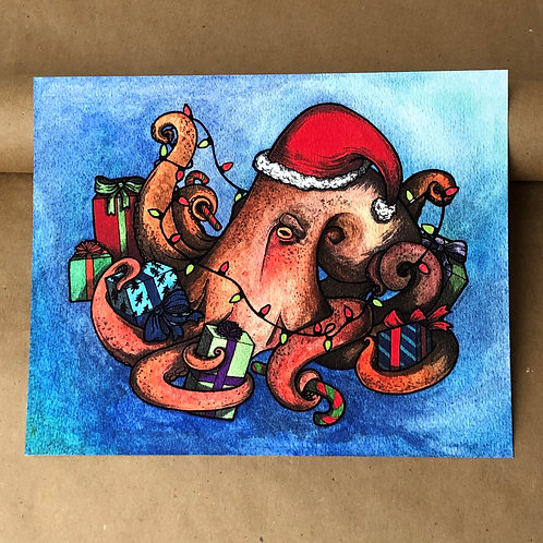 Print - Gift Giving Octopus