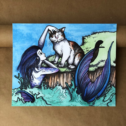 Print - Maggie and the Mermaid