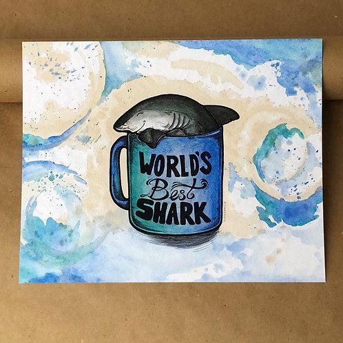 Print - World's Best Shark