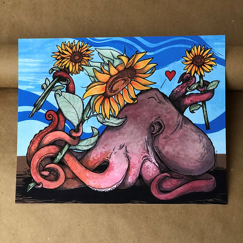 Print - Sunflower Octo