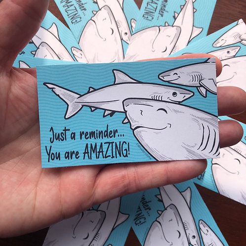 10 Eco Paper Stickers ('You are AMAZING!')
