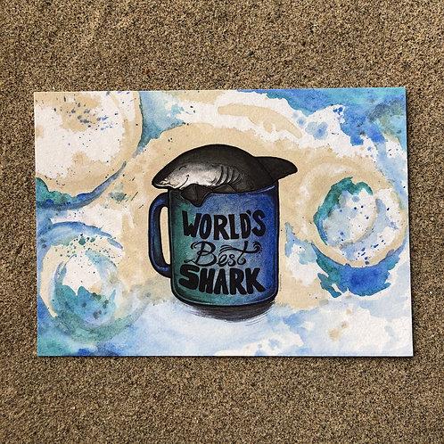 5x7 Print - World's Best Shark