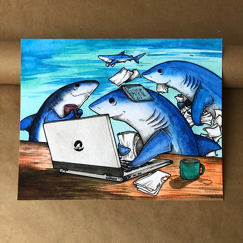 Print - Blue Shark Work/Study Group