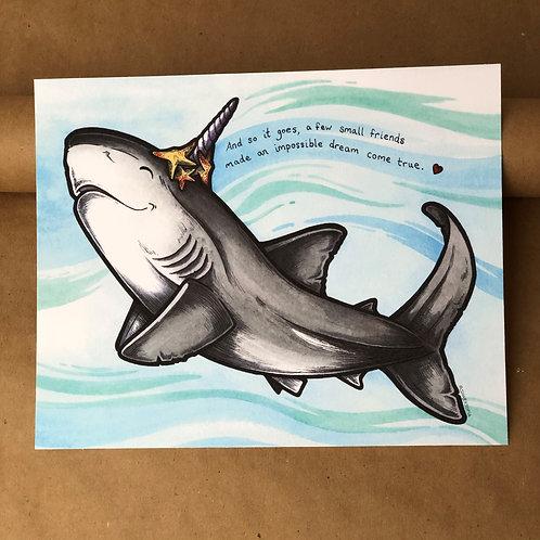 Print - Unishark w/ Helpful Starfish