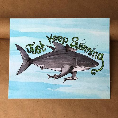 Print - Just Keep Swimming