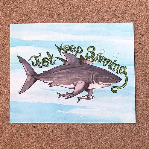 8x10 Print - Just Keep Swimming