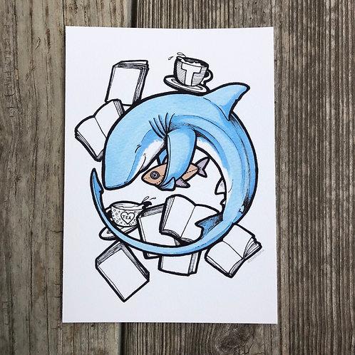 5x7 Print - Tea Shark