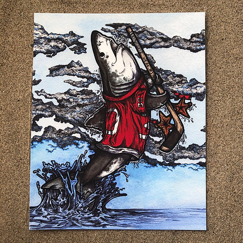 8x10 Print - Hockey Shark - We're #1!