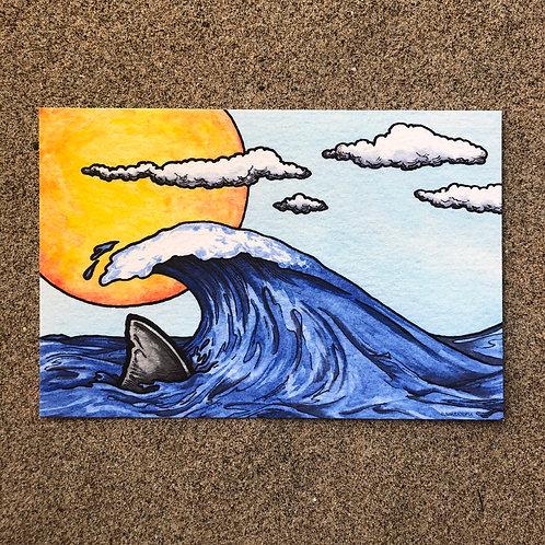 4x6 Print - Sunlit Wave on Shark Fin