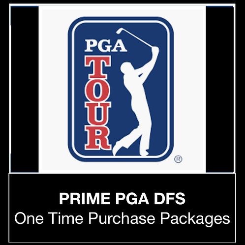 PRIME PGA DFS Package (Daily,Weekly,Monthly)