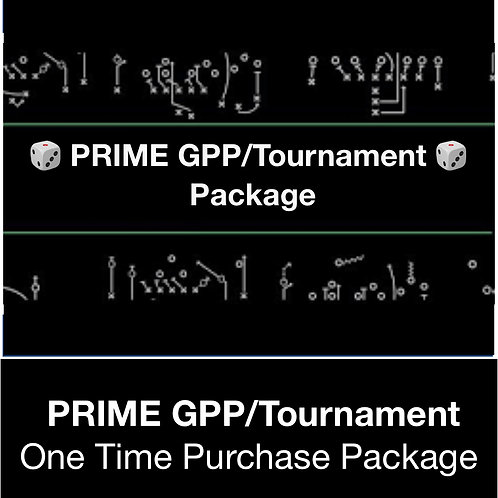 PRIME Tournament/GPP DFS Package (Daily,Weekly,Monthly,Season)
