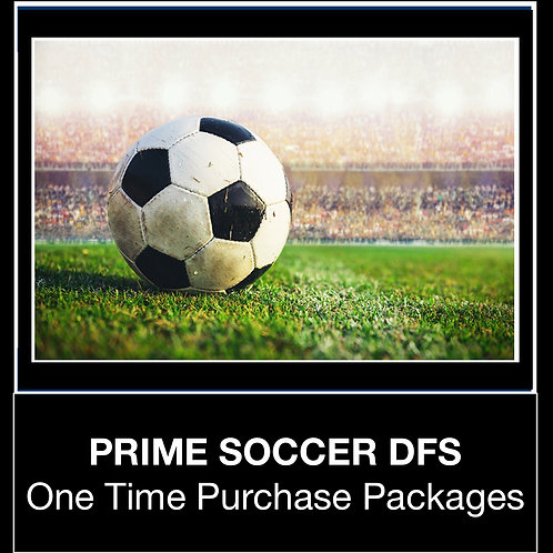 PRIME Soccer DFS Package (Daily,Weekly,Monthly,Season)