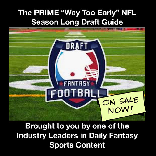 2020 NFL Season Long Fantasy Draft Guide-Pre-Order