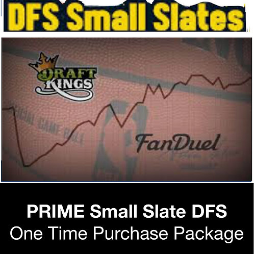 PRIME Small Slate DFS Package (Daily,Weekly,Monthly,Season)